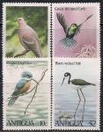 Антигуа 1980 год. Экзотические птицы. 4 марки