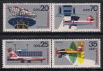 ГДР 1980 год. 25 лет международным авиаперевозкам. Самолеты. 4 марки