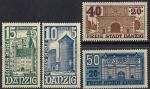 Германия Рейх. Данциг 1936 год. Старинные замки. 4 марки из серии