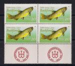 ГДР 1988 год. Форель. 1 малый лист с купонами