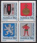Швеция 1986 год. Гербы скандинавских городов и областей. 1 малый лист