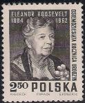 Польша 1964 год. 80 лет со дня рождения Элеоноры Рузвельт. 1 марка