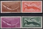 Гвинея испанская 1954 год. День почтовой марки. Акулы, черепахи. 4 марки