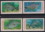 Намибия 1994 год. Тропические рыбы. 4 марки