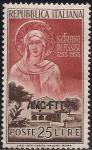 Италия 1953 год. 700 лет со дня рождения Клары Ассизской. 1 марка