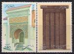 Алжир 1986 год. Старинная архитектура. Мечети. 2 марки