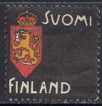 "Финляндия 1900 год. ""Траурная марка"" в знак протеста против падения курса финской марки"