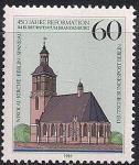 ФРГ. Берлин 1989 год. 450 лет новому зданию Бранденбургского собора. Марка