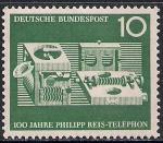 ФРГ 1961 год. 100 лет изобретению телефона. 1 марка