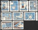 Набор спичечных этикеток. Здоровье. 1964 год. 9 шт.