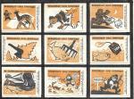 Набор спичечных этикеток. Браконьер - враг. 1966 год. 9 штук