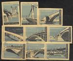 Набор спичечных этикеток. Мосты Москвы. 1962 год. 9 шт