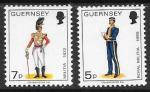 Остров Гернси 1976 год. Военная форма. Стандарт. 2 марки.