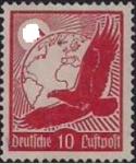 Германия. Рейх 1934 год. Воздушная почта (ном. 10 пф). 1 марка из серии