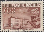 Албания 1953 год. Восстановление народного хозяйства. Табачная фабрика в Шкодере (ном. 0.5). 1 гашёная марка из серии