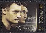 Украина 2010 год. Боксеры братья Кличко. 1 марка. (м/л