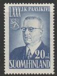 Финляндия 1950 год. Президент Юхо Паасикиви. 1 марка