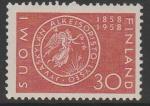 Финляндия 1958 год. 100 лет лицею Ювяскюля. 1 марка