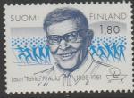 Финляндия 1988 год. 100 лет со дня рождения спортсмена, тренера Лаури Пихкала. 1 марка