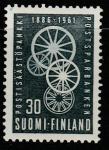 Финляндия 1961 год. 75 лет финскому Сбербанку. Новая эмблема. 1 марка