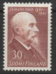 Финляндия 1961 год. 100 лет со дня рождения писателя и журналиста Юхани Ахо. 1 марка