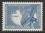 Финляндия 1965 год. Радиолокатор. 100 лет Международному Союзу телекоммуникаций. 1 марка