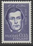 Финляндия 1963 год. 150 лет со дня рождения финского филолога Александра Кастрена. 1 марка
