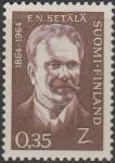 Финляндия 1964 год. 100 лет со дня рождения финского языковеда Эмиля Сетеле. 1 марка