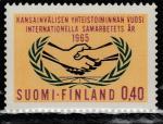 Финляндия 1965 год. Год Международного сотрудничества. 1 марка