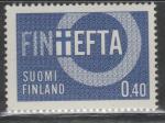 Финляндия 1967 год. Символическое представление: Финляндия - ассоциированный член EFTA. 1 марка