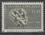 Финляндия 1965 год. 100 лет местному самоуправлению Финляндии. 1 марка
