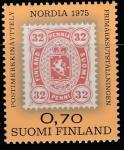 Финляндия 1978 год. Международная филвыставка NORDIA-75. Хельсинки. 1 марка