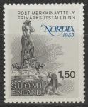 """Финляндия 1985 год. Фонтан - скульптура """"Русалочка"""" в Хельсинки. 1 марка"""