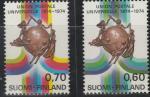 Финляндия 1974 год. 100 лет Международному почтовому союзу (UPU). 2 марки