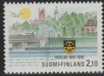 Финляндия 1991 год. 100 лет финскому городу Ийсалми. 1 марка