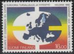 Финляндия 1992 год.Конференция по безопасности и сотрудничеству в Европе. Хельсинки. 1 марка