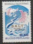 Финляндия 1970 год. Земной шар, вымпел, оливковая ветвь.Конференция США - СССР по сокращению стратегических вооружений в Европе. 1 марка