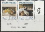 Финляндия 1991 год. Картины. 2 марки