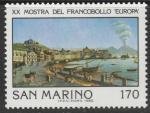 """Сан-Марино 1980 год. Неаполь. Международная филвыставка """"Europa"""" в Неаполе. 1 марка"""