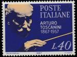 Италия 1967 год. 100 лет со дня рождения композитора Артуро Тосканини. 1 марка