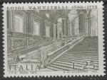 Италия 1973 год. 200 лет со дня кончины зодчего Луиджи Ванвителли. Лестница королевского дворца. 1 марка