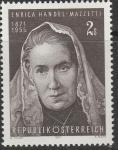Австрия 1971 год. 100 лет со дня рождения писательницы, баронессы Хандель Маццетти. 1 марка