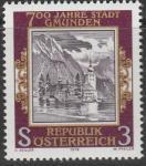 Австрия 1978 год. 700 лет городу Гмунден. Замок. 1 марка