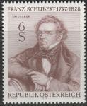 Австрия 1978 год. 150 лет со дня кончины композитора Франца Шуберта. 1 марка