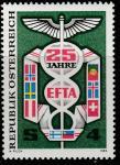 Австрия 1985 год. 25 лет Европейской зоне свободной торговли (EFTA). Эмблема EFTA. 1 марка