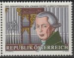 Австрия 1986 год. Иоганн Георг Альбрехтсбереер, композитор, органист. 1 марка