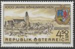 Австрия 1985 год. 1000 лет городу Бехаймкирхен.. Герб города. 1 марка