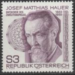 Австрия 1983 год. Йозеф  Маттиас Хауэр, австрийский композитор. 1 марка