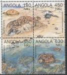 Ангола 1993 год. Морские черепахи. Квартблок