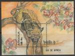 Ангола 1993 год. День Африки. Леопард. Блок